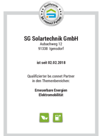 be.connect bei SG Solartechnik GmbH in Igensdorf